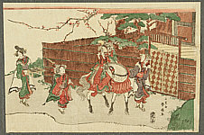Shunsen Katsukawa 1762-1830 - Musical Entertainers