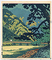 Nisaburo Ito 1910-1988 - Drizzle at Mt. Arashiyama