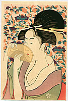 Utamaro Kitagawa 1750-1806 - Woman with Comb