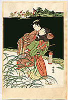 Harunobu Suzuki 1724-1770 - Osen Eloping With Lover