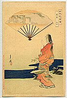 Gekko Ogata 1859-1920 - Beauty and Fan - Pictures of Japanese Flowers