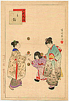 Shuntei Miyagawa 1873-1914 - Hand Balls -  Children's Customs and Manners