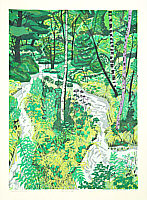 Fumio Kitaoka born 1918 - Creek in a Forest