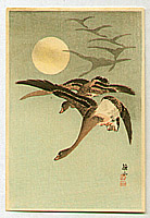 Sozan Ito 1884-? - Geese and Full Moon