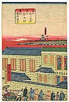 Hiroshige III Utagawa 1842-1894 - Western Style Building in Meiji Era
