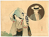 Eisen Tomioka 1864-1905 - Towel and Hat