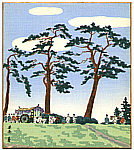 Tomikichiro Tokuriki 1902-1999 - Aoi Festival - Famous Places in Kyoto