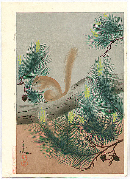 Bakufu Ono 1888-1976 - Squirrel
