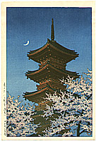 Hasui Kawase 1883-1957 - Toshogu Shrine in Spring Dusk