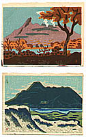 Masao Maeda 1904-1974 - Mountains in Hokkaido Island