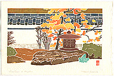 Toshi Yoshida 1911-1995 - Lanterns and Maples