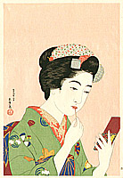 Goyo Hashiguchi 1880-1921 - Lady and Lip Stick