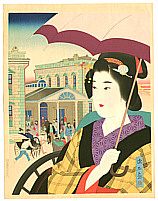 By Ito Shinsui - Beauty at Shinbashi Station, 1942