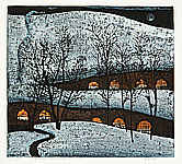 Kang Yongming born 1943 - Bright Lights and Snow Moon