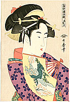 Utamaro Kitagawa 1750-1806 - Fan on Finger Tips