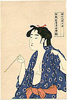 Utamaro Kitagawa 1750-1806 - Beauty Smoking