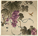 Chikuseki  active ca. 1900 - Grape and Wasp