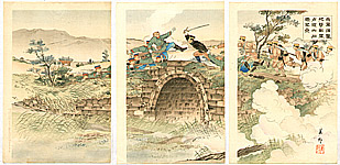 Biho  active  ca. 1900-1910 - Bridge - Russo-Japanese War