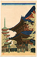 Masao Maeda 1904-1974 - Ni-o- Gate at Senso Temple