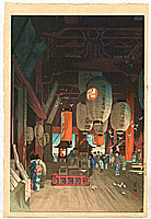 Eisho Narazaki 1864-1936 - Inside the Asakusa Kannon Shrine