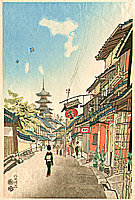 Eiichi Kotozuka 1906-1979 - Near Yatsusaka on the New Year's Day