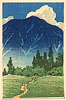 Hasui Kawase 1883-1957 - Towards a Blue Mountain