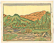 Unichi Hiratsuka 1895-1997 - Early Autumn in Nagatoro