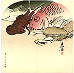Zeshin Shibata 1807-1891 - Sea Food Fan