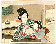 Keichu Yamada 1868-1934 - Mother and daughter