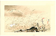 Seiho Takeuchi 1864-1942 - Rabbit Runs - Twelve Views of Mt. Fuji