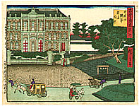 Hiroshige III Utagawa 1842-1894 - Army Headquarters - Kokon Tokyo Meisho