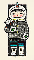 Li Pingfan born 1922 - Girl and Panda