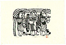 Sadao Watanabe 1913-1996 - Three Fishermen - Story of the Bible
