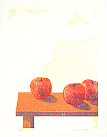 Yoshio Shoda fl.ca. 1980s - Scenery with Apples -2
