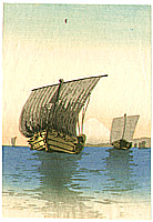 Unknown - Two Sail Boats and Mt. Fuji