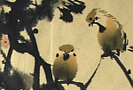Jianqiu ZHANG born 1936 - Grapes and Birds