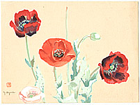 Yoji Oguri active ca. 1950s - Poppies