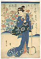 Yoshitora Utagawa active ca. 1840-1880 - Shamisen Player
