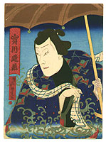 Yoshimitsu Sasaki 1850-1891 - Jitsukawa Enjaku - Kabuki