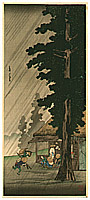 Hiroaki Takahashi 1871-1945 - Evening Shower at Takaido