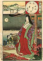 Lady Murasaki - Snow-Flower-Moon - By Chikanobu Toyohara 1838-1912