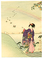 Eisen Tomioka 1864-1905 - Beauty and Rainbow