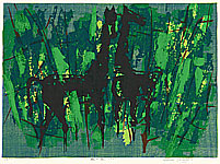 Shiro Takagi born 1934 - Horses in Woods