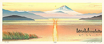 Ryusei Okamoto born 1949 - Mt. Fuji in Evening Glow