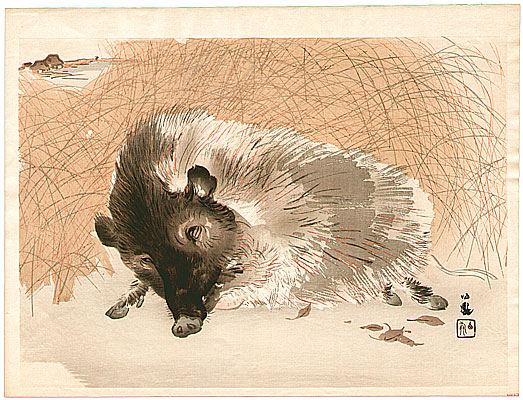 Sleepy Boar - Seiho Takeuchi - 1864-1942