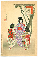 Shuntei Miyagawa 1873-1914 - Sing in a Circle -  Children's Customs and Manners