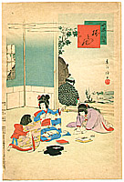 Shuntei Miyagawa 1873-1914 - Folding Paper  -  Children's Customs and Manners