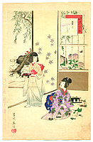 Shuntei Miyagawa 1873-1914 - Cooking -  Children's Customs and Manners