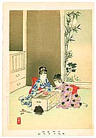 Shuntei Miyagawa 1873-1914 - Fireworks - Children's Manners and Customs