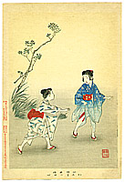 Shuntei Miyagawa 1873-1914 - Chasing - Children's Manners and Customs
